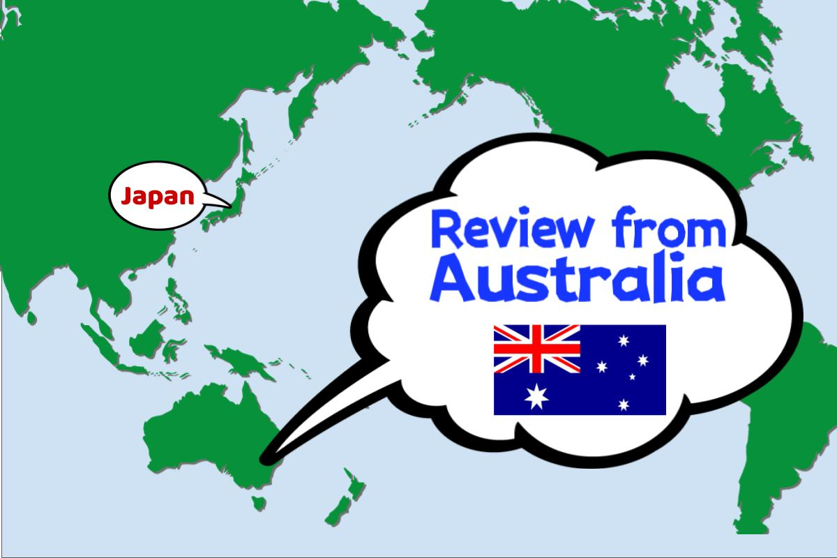 Thank you for the review from Australia