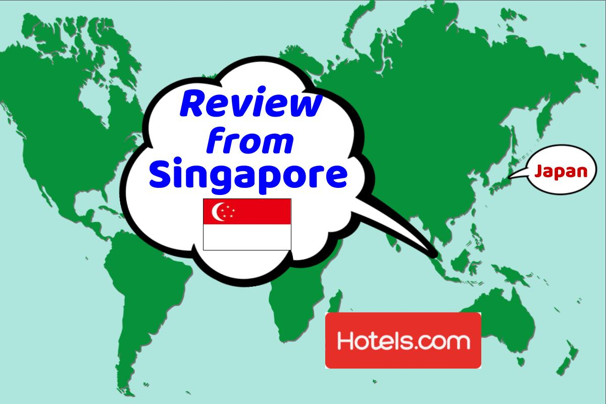 Thank you for the review from Singapore.