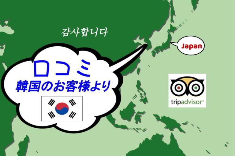 韓国から口コミ-期待を裏切る名古屋の楽園身に余るお言葉です