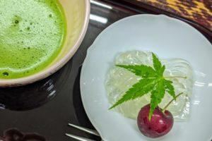 水菓子と抹茶